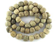 Stegodon Mammoth Fossilized Bone Beads 10-15mm (RF605) - Happy Mango Beads