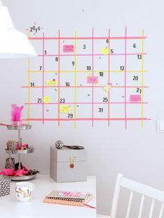 20 piccole idee furbe con il washi tape calendario