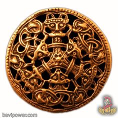 Oval Viking Bronze Urnes Snakes Nidhogg Dragon Viking Pendant
