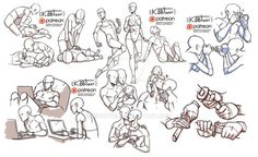 Figure Drawing Poses September reference sheets by Kibbitzer - Drawing Body Poses, Drawing Reference Poses, Anatomy Reference, Drawing Base, Figure Drawing, Character Drawing, Character Design, Character Reference Sheet, Desenhos League Of Legends