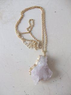 Calcite Druzy Pendant Necklace