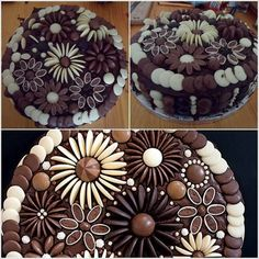 Your cakes and cupcakes will steal the show when decorated with chocolate buttons. They make decorating easy and it will look like an expert got a hold of your dessert. I can always use more ideas and am constantly searching for fresh inspiration. I've found it here at iCreativeIdeas. What do you think? Chocolate Button Cake Decorating Ideas