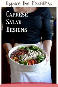Learn to make classic Caprese salad styles & designs —made with mozzarella, tomatoes, and basil—plus a few delicious variations. #capresesalad #capreserecipes Salad Design, Breakfast Recipes, Dinner Recipes, Different Salads, Easy Recipes, Healthy Recipes, Easy Salads, Caprese Salad, Quick Easy Meals