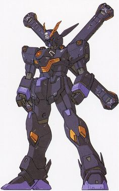 The Crossbone Gundam X-2 is a testbed mobile suit in the Universal Century developed by the Earth Federation's Strategic Naval Research Institute (SNRI). It was featured in the manga series Mobile Suit Crossbone Gundam.