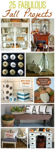 25 Fabulous Fall Projects at The Happy Housie