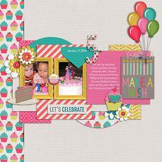 Sweet Shoppe Designs::Digital Scrap Kits::It's My Par-tea by Melissa Bennett & Tickled Pink Studio