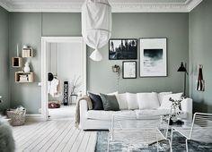 5 minimalistische ruimtes met groene muren