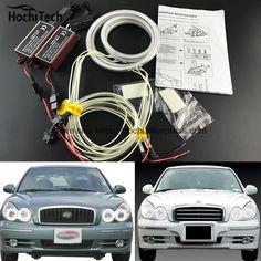 ==> [Free Shipping] Buy Best HochiTech ccfl angel eyes kit white 6000k ccfl halo rings headlight for Hyundai Sonata 2002 2003 2004 2005 Online with LOWEST Price | 32793296927