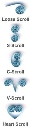 5 Basic Quilling Scrolls