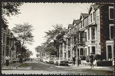 Albert Road, Morecambe, Lancashire. Late 50's/early 60's. Morecambe, Lucky Horseshoe, Seaside Towns, Horseshoes, Lancaster, North West, England, Street View, Memories