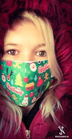 Karácsonyi mintás szájmaszk - Karácsonyi maszk - nevesajandek.hu Eyes, Cat Eyes