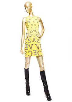 Versace - Versace Typeface Cocktail Dress