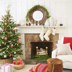 50 The Best Christmas Tree Design Ideas For Your Home Decoration Christmas Tree Design, Metal Christmas Tree, Tabletop Christmas Tree, Country Christmas Decorations, Christmas Fireplace, Christmas Mantels, Simple Christmas, Christmas Home, Christmas Tree Decorations
