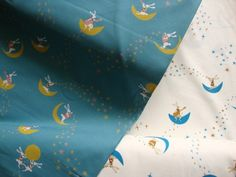 Rabbit and Moon Blue  By Yuwa Live Life Collection  (Cotorienne Collection)