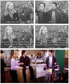 Ross giving Phoebe her first bike is one of the sweetest things ever