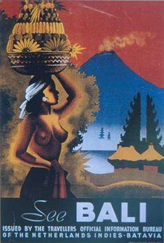 "Korver,""See Bali"",Poster pariwisata,tahun Retro Kunst, Retro Art, Vintage Art, Retro Poster, Poster S, Tourism Poster, Kunst Poster, Mont Saint Michel, Art Deco"