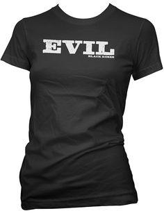 """Women's """"Evil"""" Tee by Black Roses Apparel (Black) #InkedShop #evil #wordtee #womens #tee"""