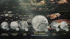 Modern Ancients Silver Rounds Silver Bars, Silver Rounds, Money, Gold, Art, Art Background, Silver, Kunst, Performing Arts