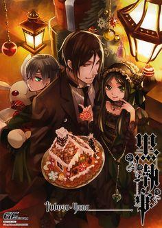 Merry Christmas || Kuroshitsuji || Ciel Phantomhive, Sebastian Michaelis and Sieglinde Sullivan || Yana Toboso
