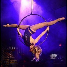 We love to watch aerialists in action! By @secretagentblaire Love the gold and purple in this batch of shots from The Mansion last Saturday photo by @psykorunner #usaerial