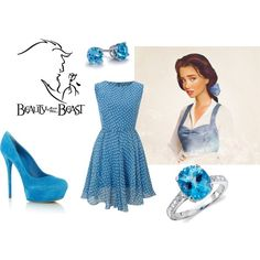 Belle (Beauty and the Beast) Inspired Outfit Disney Outfits, Twin Outfits, Princess Outfits, Cute Outfits, Disney Princess, Disney Inspired Fashion, Character Inspired Outfits, Disney Fashion, Beauty And The Beast Theme