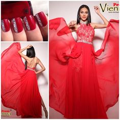 """""""#prom #promdresses #prom2k15 #prom2015 #pageant #pageantgowns #formal #nails #nailart #fortwayne #indiana #viennaprom #vienna #promstore #lace #red…"""""""