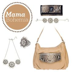 For Mother's Day this year surprise your Boho-Chic Mom with this beautiful and earthy #GraceAdele look! #Handbag #Jewelry