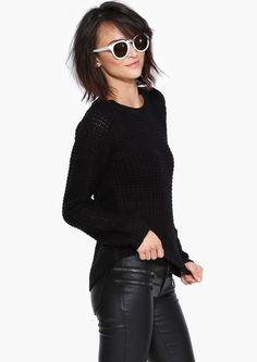 Anne Knit Sweater in Black | Necessary Clothing