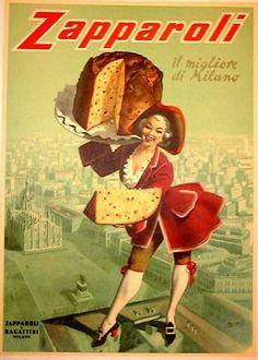 Vintage Italian Poster for Pannetone.
