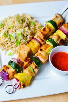 ... on Pinterest | Grilled chicken skewers, Raspberry bread and Puddings