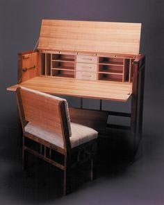 Custom Made Writing Desk Woodworking Desk Plans, Woodworking Store, Woodworking Projects Diy, Types Of Furniture, Fine Furniture, Furniture Design, Small Workspace, Campaign Furniture, Contemporary Desk