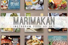 Social Media Template, Social Media Design, Social Media Graphics, Advertisement Template, Food Instagram, Business Illustration, Photoshop Design, Food Dishes, Food Food