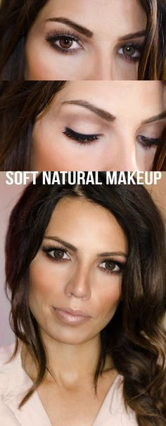 This soft, #natural #makeup look is perfect for everyday and super easy to recreate! #tutorial #beauty