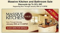Stop by and join us for our Massive Kitchen Sale! Now through January 20th at 11:59pm! REPIN!!