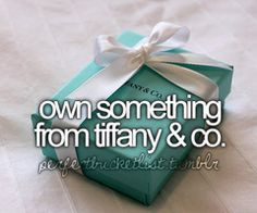 own something from tiffany & co.