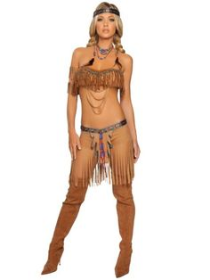 Sexy Cherokee Warrior Indian Adult Costume - Indian Party Costumes