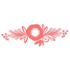 Silhouette Design Store - View Design #161242: flower sprig