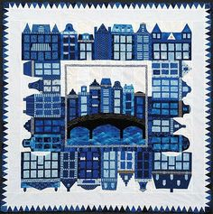 Little Amsterdam quilt, by the North Sea Quilters (Netherlands)