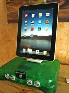Nintendo 64 iPad Dock.