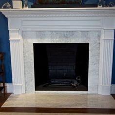 Traditional II Marble Mantels Sale - White Marble Fireplaces ...