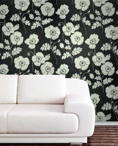 Sample Poppycock Velvet Flocked Wallpaper in Ebony and White from the Plush Collection by Burke Decor Flock Wallpaper, Velvet Wallpaper, Old Wallpaper, Wallpaper Samples, Print Wallpaper, Custom Wallpaper, Pattern Wallpaper, Luxury Wallpaper, Modern Wallpaper Designs