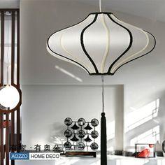 Lamp brief chinese style pendant light fabric living room lights restaurant lamp lantern bedroom lamp 60001 $86.15