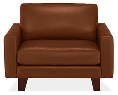 Hess Leather Chair & Ottoman - Leather Chairs - Chairs - Living - Room & Board