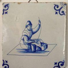 Old Dutch blue tile