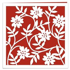 Silhouette Design Store - View Design #141551: wild roses papercut card