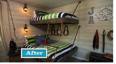 Floating Bunk Beds Tutorial {Knock It Off DIY Project} - East Coast Creative Blog