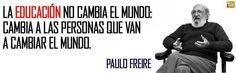 Paulo Freire pone aquí el acento en la personalización de la educación. Cuando la enseñanza se une al aprendizaje en un contexto que contempla el aqui y ahora, tanto del maestro como del aprendiz,...