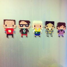 Big Bang Theory magnets perler beads by anoldromance