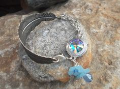 Oxidized feather & flowers bracelet  oOo OOAK oOo by LGJewellery, £20.00