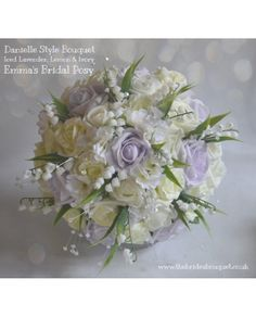 Danielle - Stunning Artificial Bridal Bouquet - Rose, Lily of The Valley, Hydrangea etc - you choose the colours